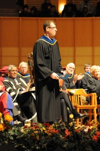 Vadim receiving the Killam Teaching Prize at UBC's 2014 Fall Convocation.